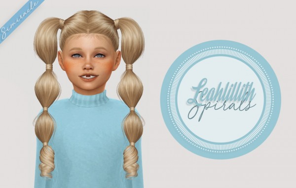 Simiracle: LeahLillith`s Spirals hair retextured   Kids Version for Sims 4