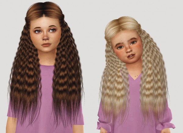 Simiracle: Anto`s Luna hair retextured for Sims 4