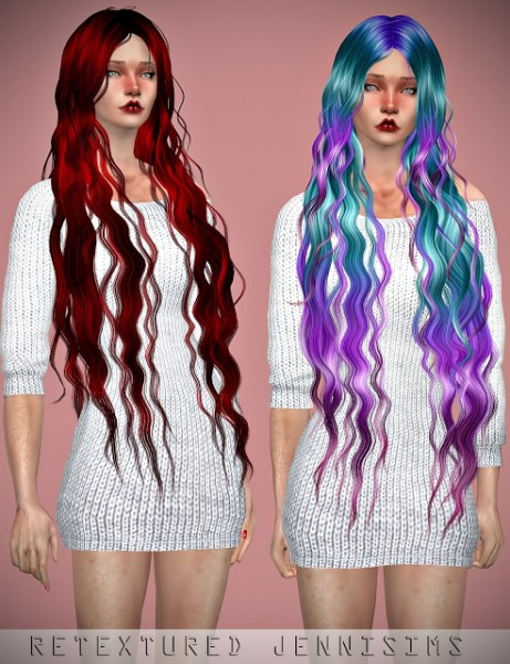 Jenni Sims: Newsea`s Siren Forest hair retextured for Sims 4