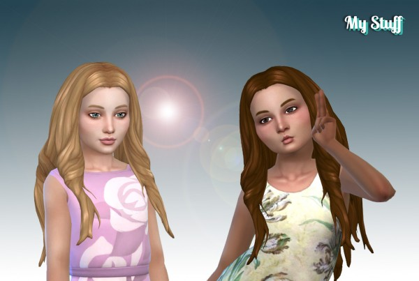 Mystufforigin: Emma hair retextured for Sims 4