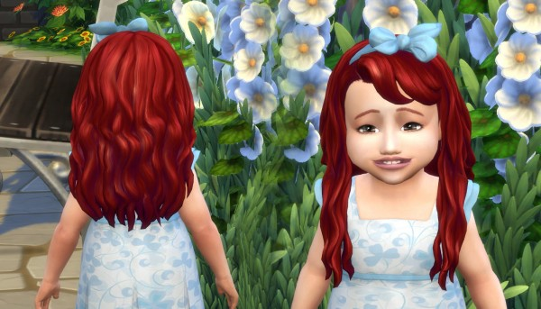Mystufforigin: Daisy hair retextured for Sims 4