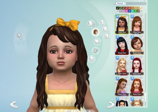 Mystufforigin: Daisy hair retextured for Sims 4