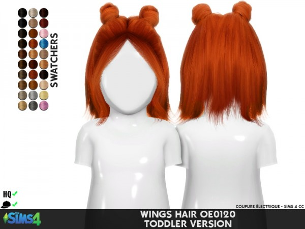 Coupure Electrique: Wings OE0120 hair retextured for Sims 4