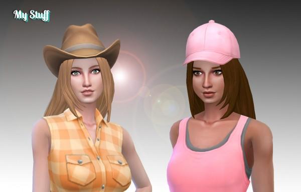 Mystufforigin: Hannah hair retextured for Sims 4