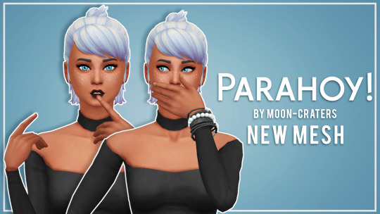 Simsworkshop: Moon craters parahoy hair recoloured by thalabee for Sims 4
