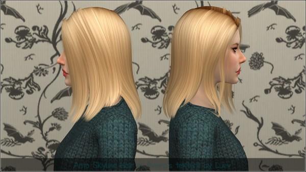 Mertiuza: Anto`s Skyline hair retextured for Sims 4