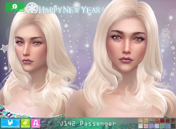 NewSea: J142 Passenger hair for Sims 4