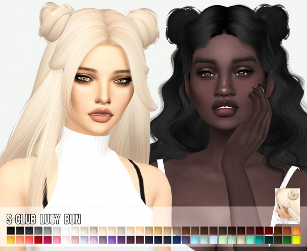 Miss Paraply: S Club`s Lucy bun hair retextured for Sims 4