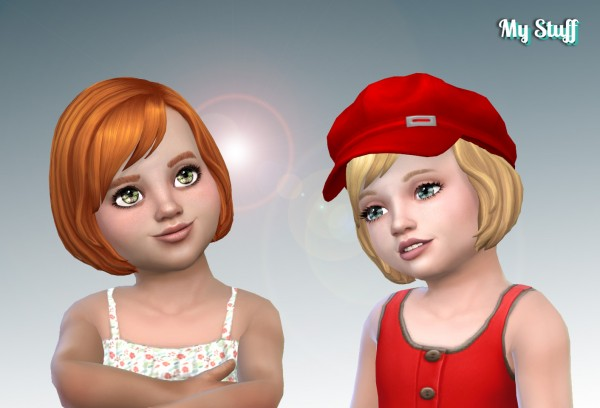 Mystufforigin: Layla hair retextured for toddlers for Sims 4