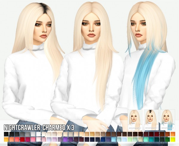 Miss Paraply: Nightcrawler`s Charmed hair retextured for Sims 4