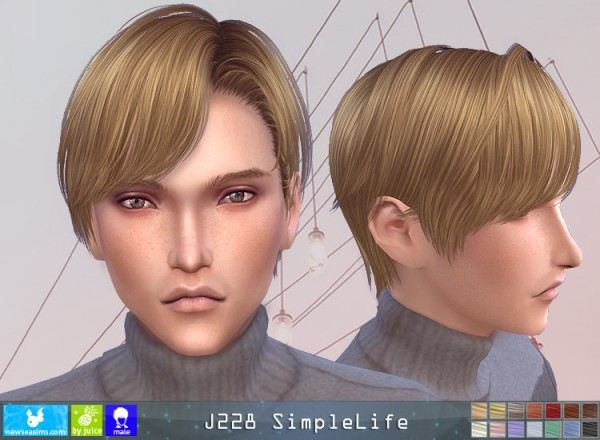 NewSea: J228 Simplelife hair for Sims 4