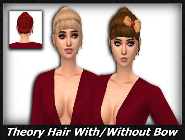 Mikerashi: Theory Hair retextured for Sims 4