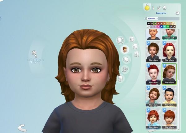 Mystufforigin: Messy Mid Length hair retextured for Sims 4