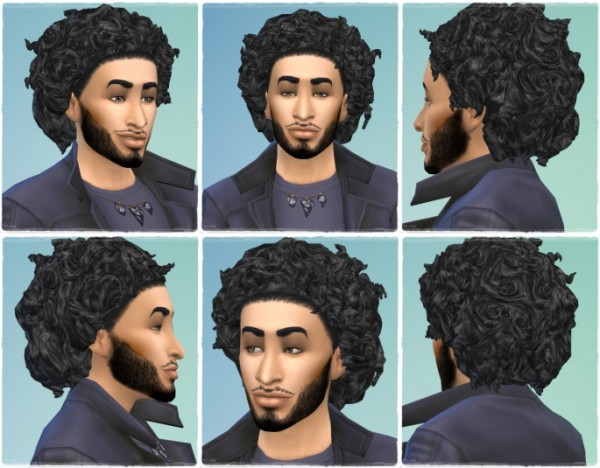 Birksches sims blog: Rock my Curls hair for Sims 4