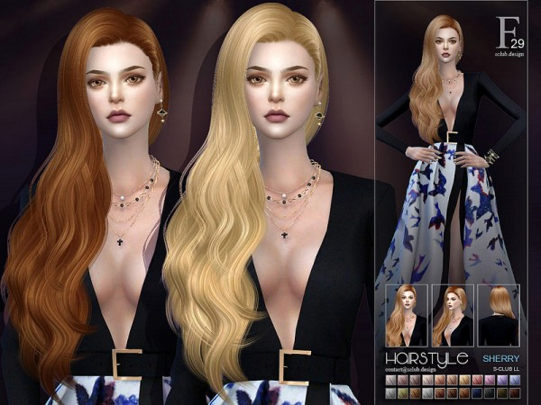 The Sims Resource: Sherry n29 hair by S Club for Sims 4