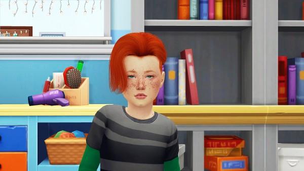 Coupure Electrique: Ade Darma`s Luca hair retextured for Sims 4