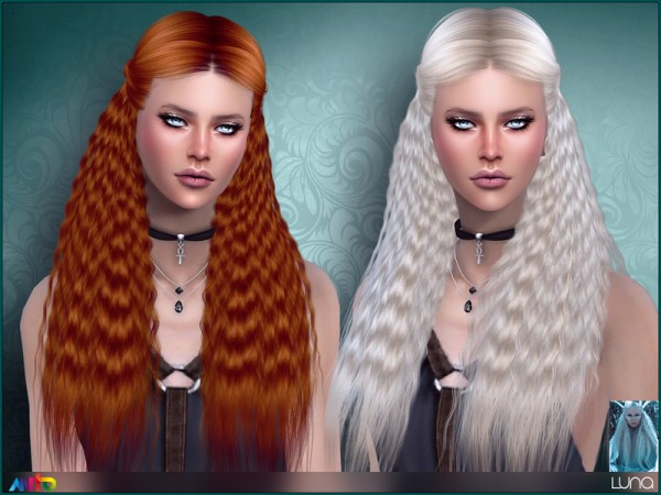 The Sims Resource: Luna Hair by Anto for Sims 4