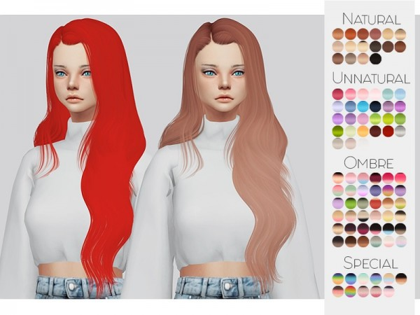 The Sims Resource: Leahlillith`s Hair Rextured 01 by Kalewa a for Sims 4