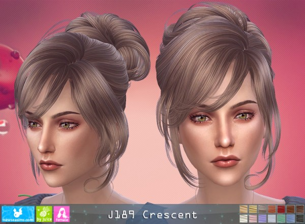 NewSea: J189 Crescent hair for Sims 4