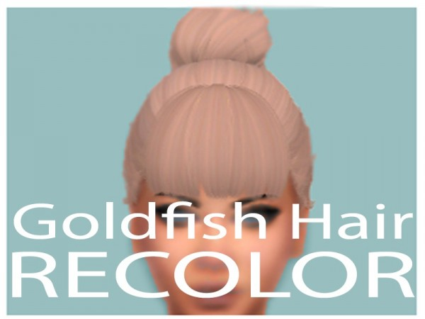 The Sims Resource: Goldfish hair recolored by crazydirpgirl for Sims 4