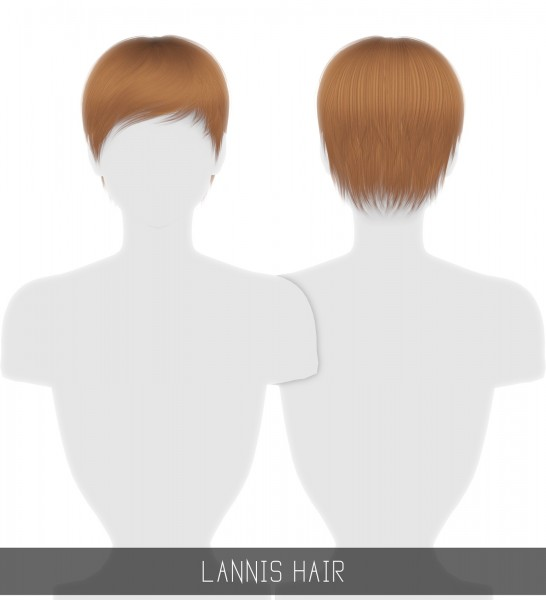 Simpliciaty: Lannis hair for Sims 4