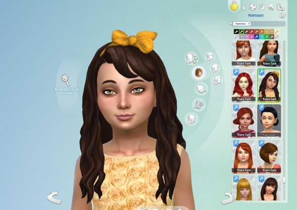 Mystufforigin: Daisy Hair for Girls for Sims 4