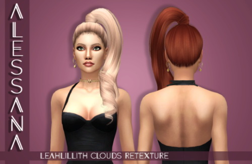 Alessana Sims: Leahlillith`s Clouds hair retextured for Sims 4