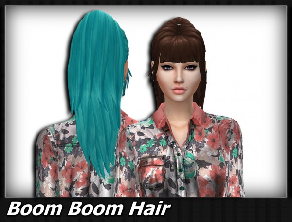 Mikerashi: Boom Boom hair retextured for Sims 4