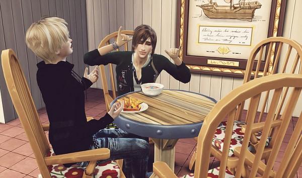 Studio K Creation: Animate hair 11 TAKUMI renewal for Sims 4