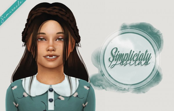 Simiracle: Simpliciaty`s Desirae hair retextured   Kids Version for Sims 4