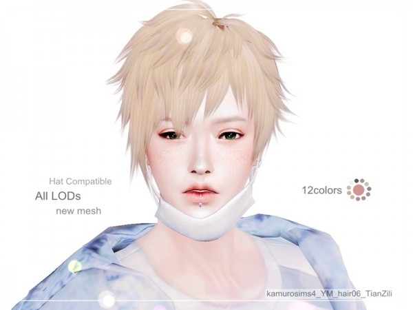 The Sims Resource: TianZili hair 06 by loli 315 for Sims 4