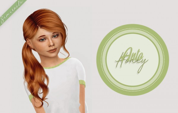 Simiracle: Anto`s Honey hair retextured  Kids Version for Sims 4