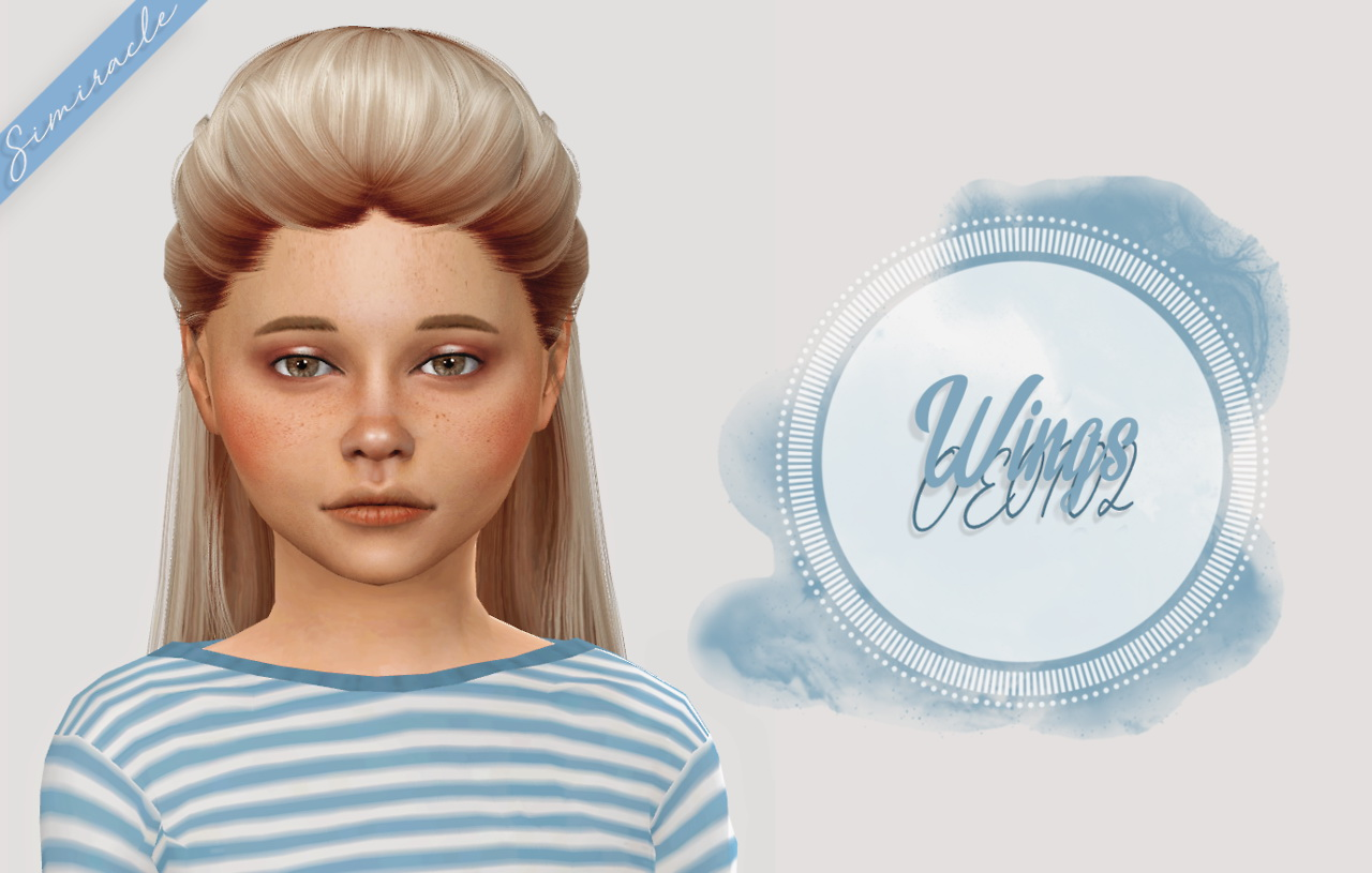 Sims 4 Hairs Simiracle Wings Oe0102 Hair Retextured
