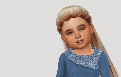 Simiracle: Wings OE0102 hair retextured for Sims 4