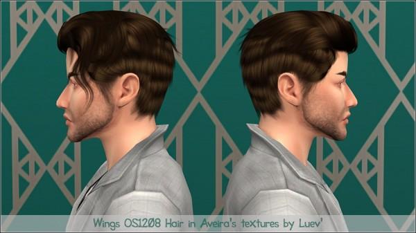 Mertiuza: Wings Os1208 hair retextured for Sims 4