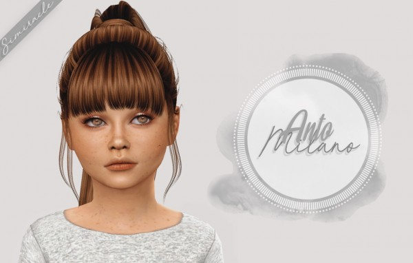 Simiracle: Anto`s Milano hair retextured  Kids Version for Sims 4