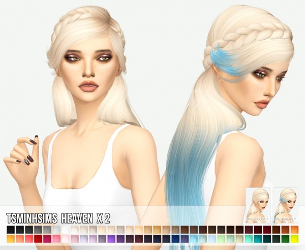 Miss Paraply: Tsminh`s Heaven hair retextured for Sims 4