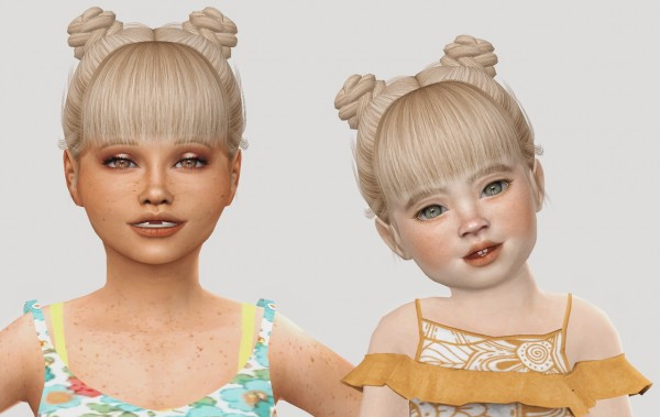 The Sims Resource: AdeDarma`s Issa hair retextured for Sims 4