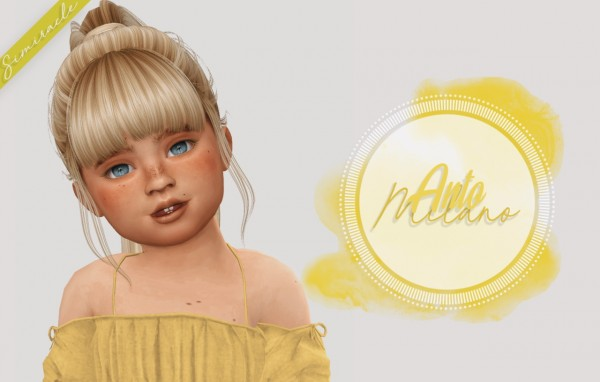 Simiracle: Anto`s Milano hair retextured   Toddler Version for Sims 4