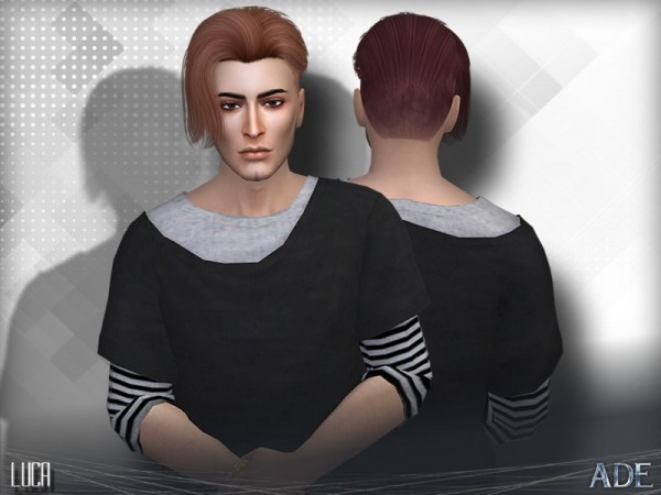 The Sims Resource: Luca hair by Ade Darma for Sims 4