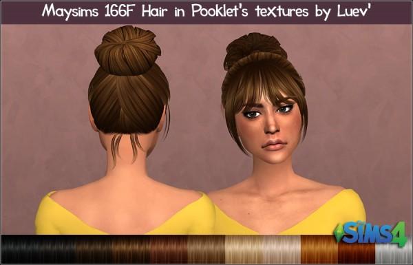 Mertiuza: May 166F hair retextured for Sims 4