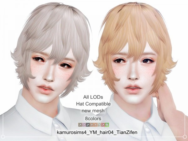The Sims Resource: Hair 04 TianZifen by abc6632298 for Sims 4