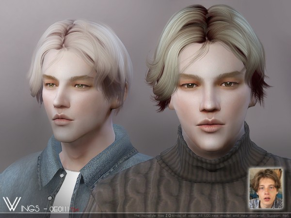 Sims 4 Hairs The Sims Resource Wings Oe0111 Hair