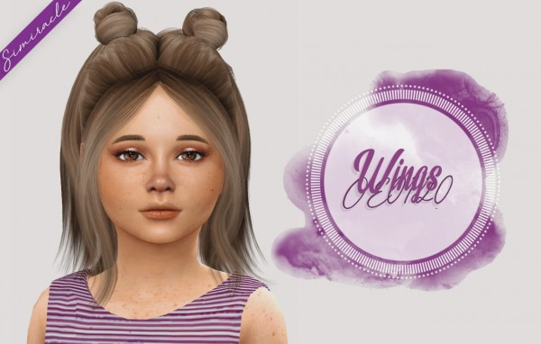 Simiracle: Wings OE0120 hair retextured   Kids Version for Sims 4