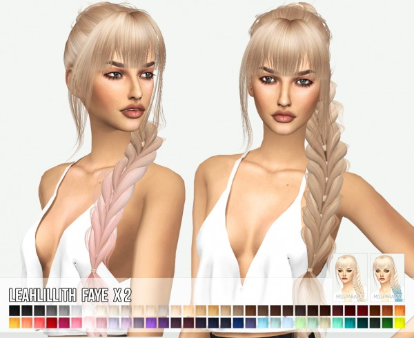 Miss Paraply: Leahlillith`s Faye hair retextured for Sims 4
