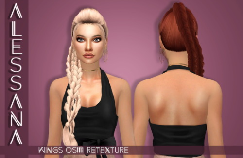 Alessana Sims: Wings OS1111F hair retextured for Sims 4