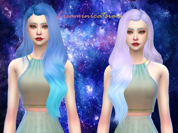 The Sims Resource: LeahLillith`s Galia Hair Retextured by Lisam for Sims 4