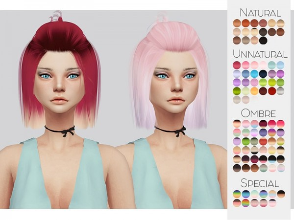 The Sims Resource: LeahLillith`s Radiance hair retextured by kalewa for Sims 4