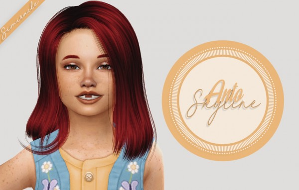 Simiracle: Anto`s Skyline hair retextured   Kids Version for Sims 4