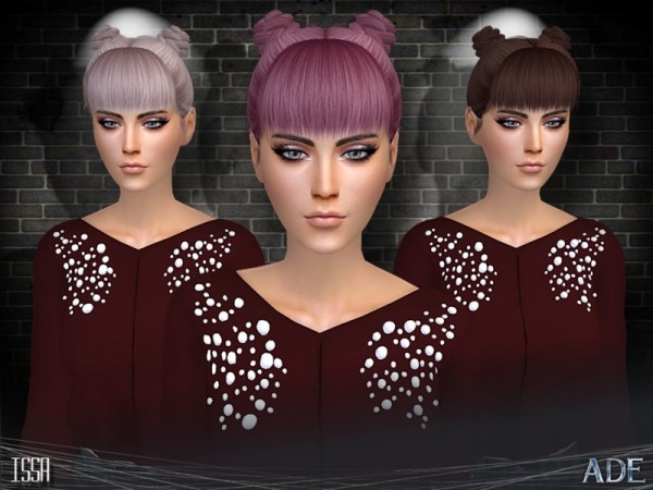 The Sims Resource: Issa hair by Ade Darma for Sims 4